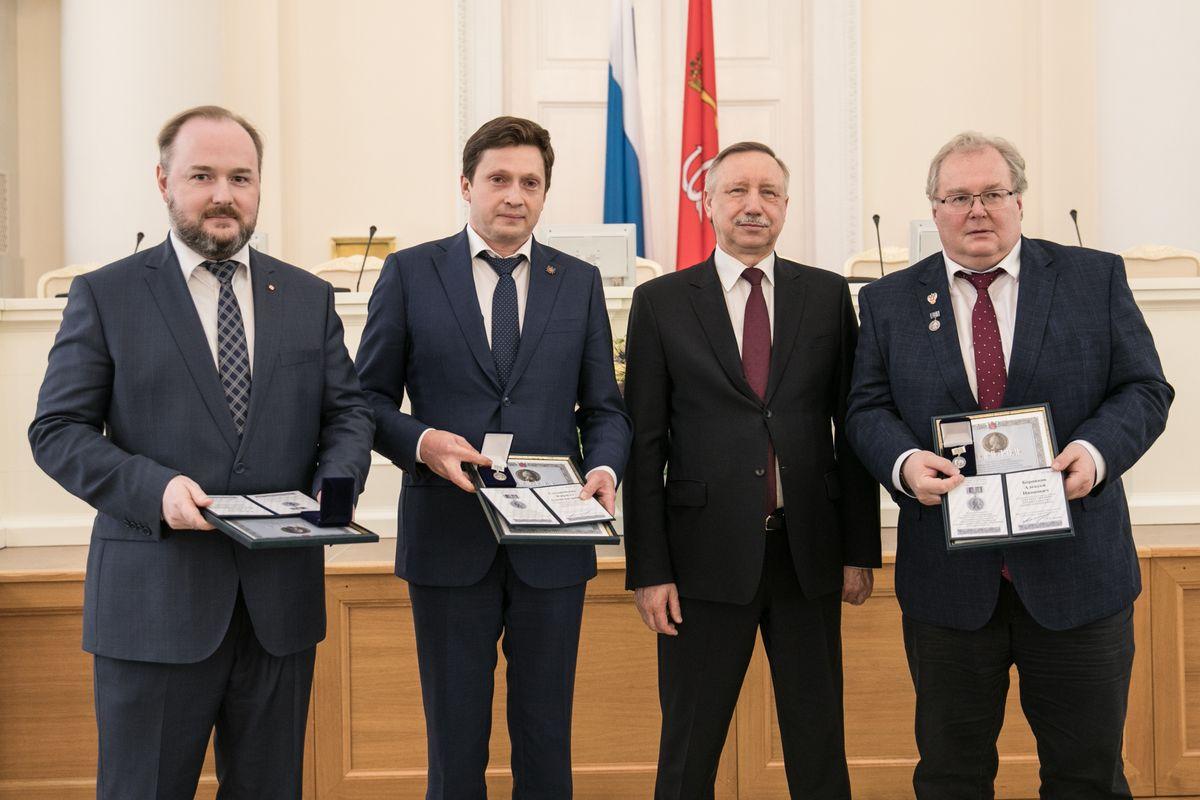 В Смольном прошла торжественная церемония награждения лауреатов премий правительства Санкт-Петербурга