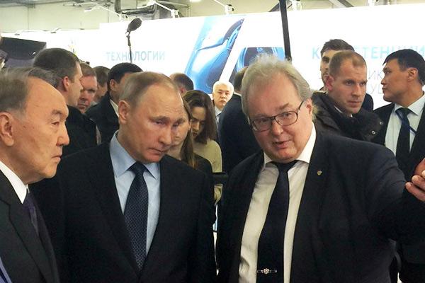 Владимир Путин и Нурсултан Назарбаев ознакомились с проектами ИППТ СПбПУ