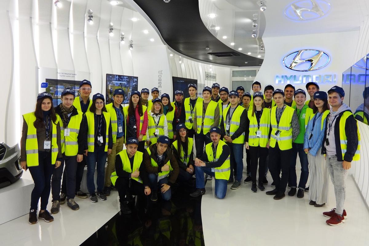 Магистранты ИППТ посетили российский завод компании Hyundai Motor