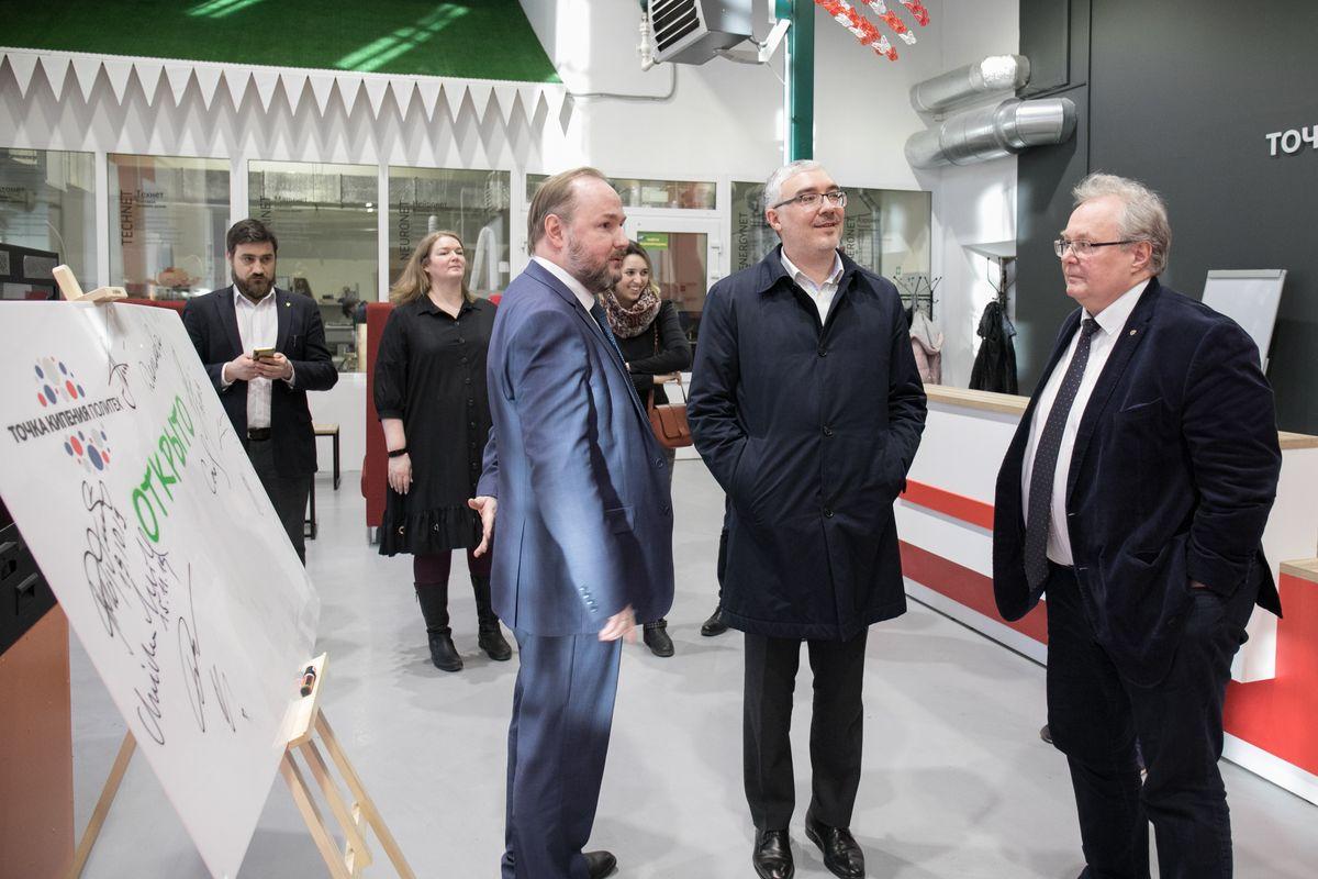 Дмитрий Песков посетил «Точку кипения – Политех Санкт-Петербург» и Центр НТИ СПбПУ